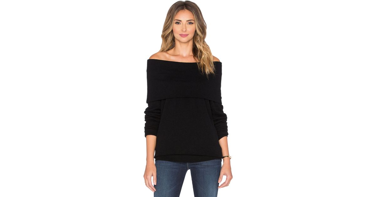 Lyst - Autumn Cashmere Slouchy Off Shoulder Sweater in Black e936ecdfb