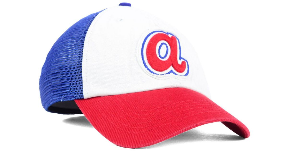 a84ba2dd5d1 ... czech lyst 47 brand atlanta braves privateer closer cap in blue for men  be04d 8c0b7