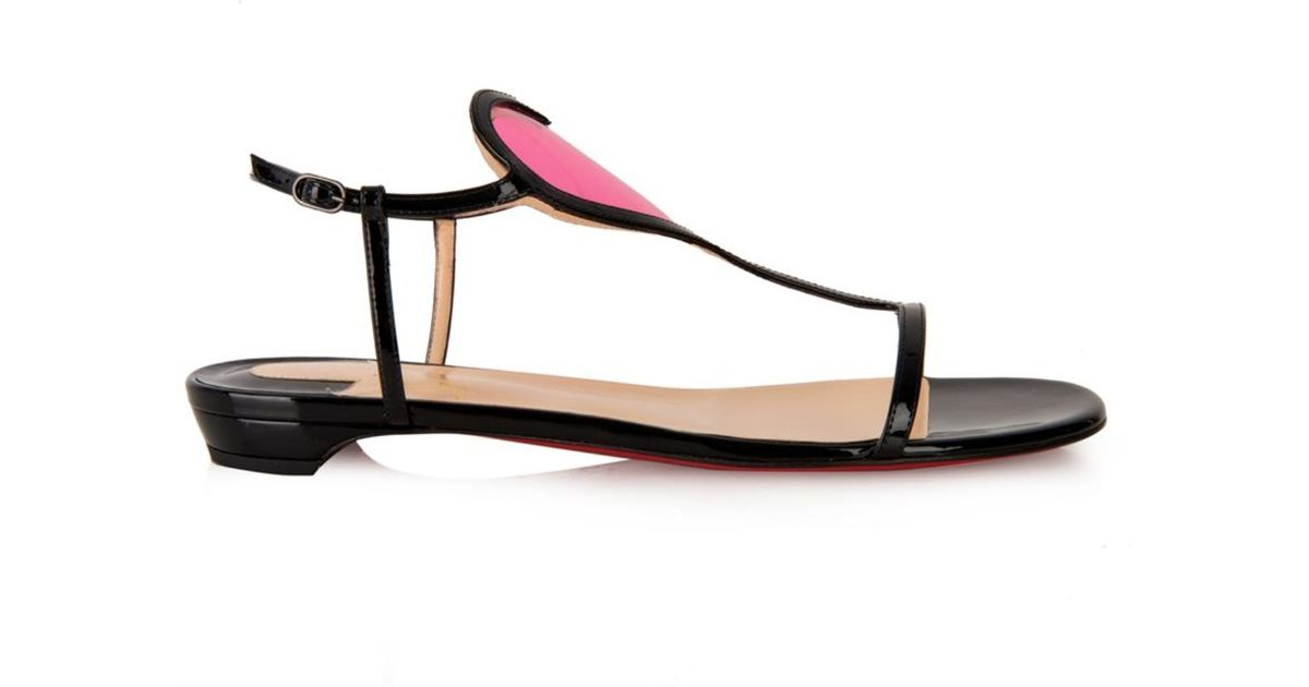 6d5a30a8bbf low cost louboutin sandals black pink cccbf c1a42