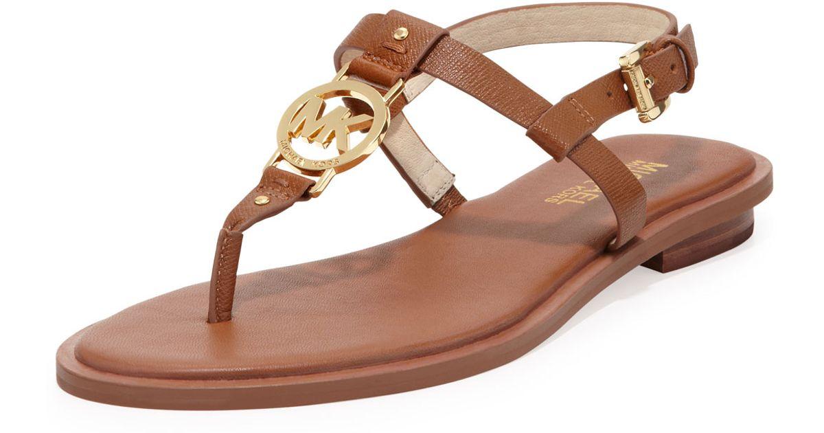 4335e3d2b37e97 Lyst - MICHAEL Michael Kors Sondra Logo Sandal in Brown