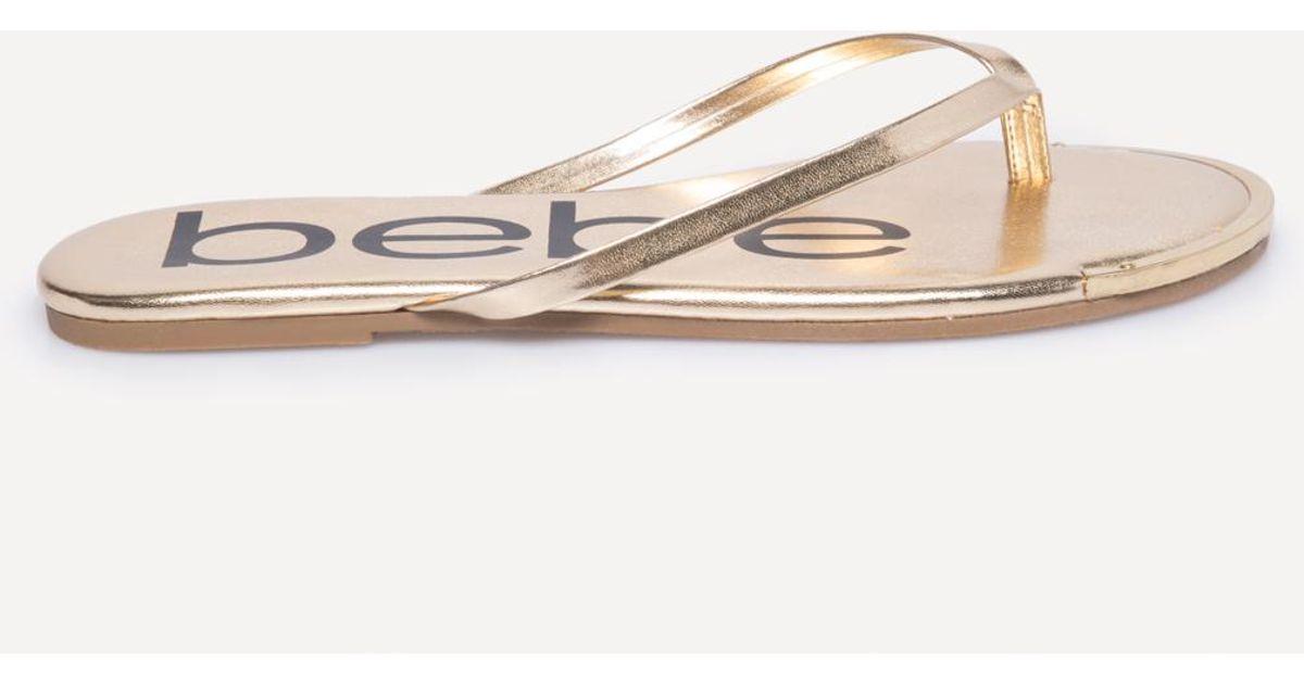 38602909a Lyst - Bebe Ilana Logo Flip Flops