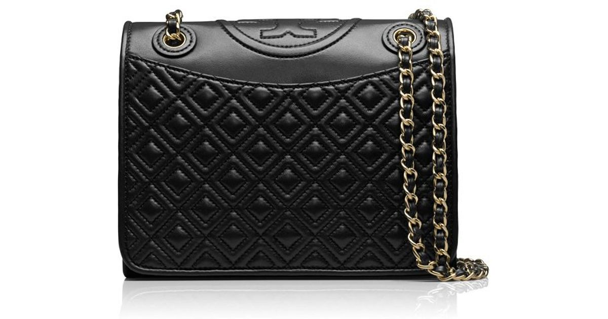 32411e5e7b6 Lyst - Tory Burch Fleming Medium Bag in Black