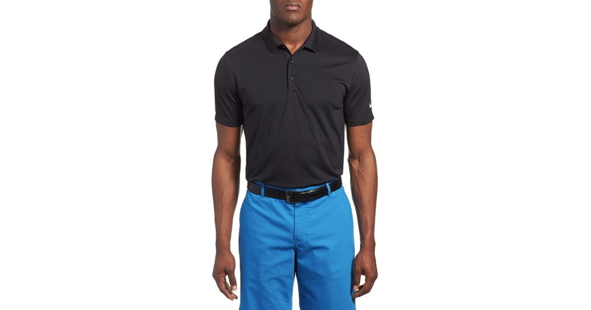 Nike 39 Victory Dri Fit Golf Polo In Black For Men Lyst