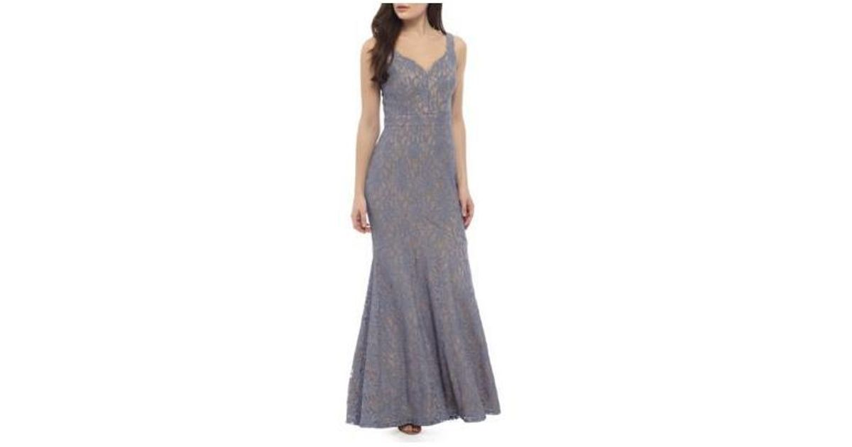 Lyst - Betsy & Adam Strappy Sequin Gown
