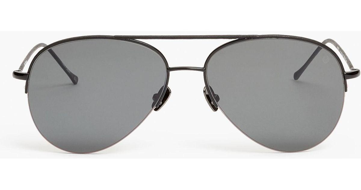4d00d853630 Lyst - Belstaff Phoenix Thin Aviator Sunglasses in Black for Men