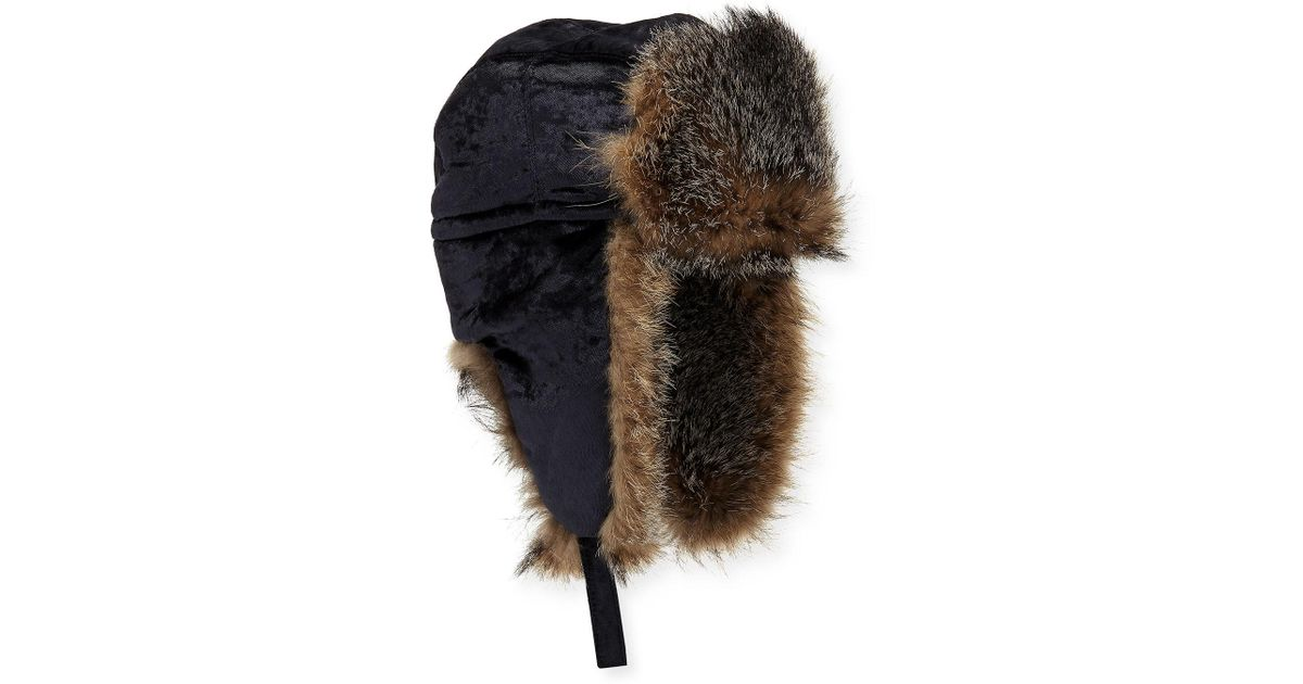 9331a560789 Lyst - Brunello Cucinelli Velvet Hat W  Fox Fur in Gray