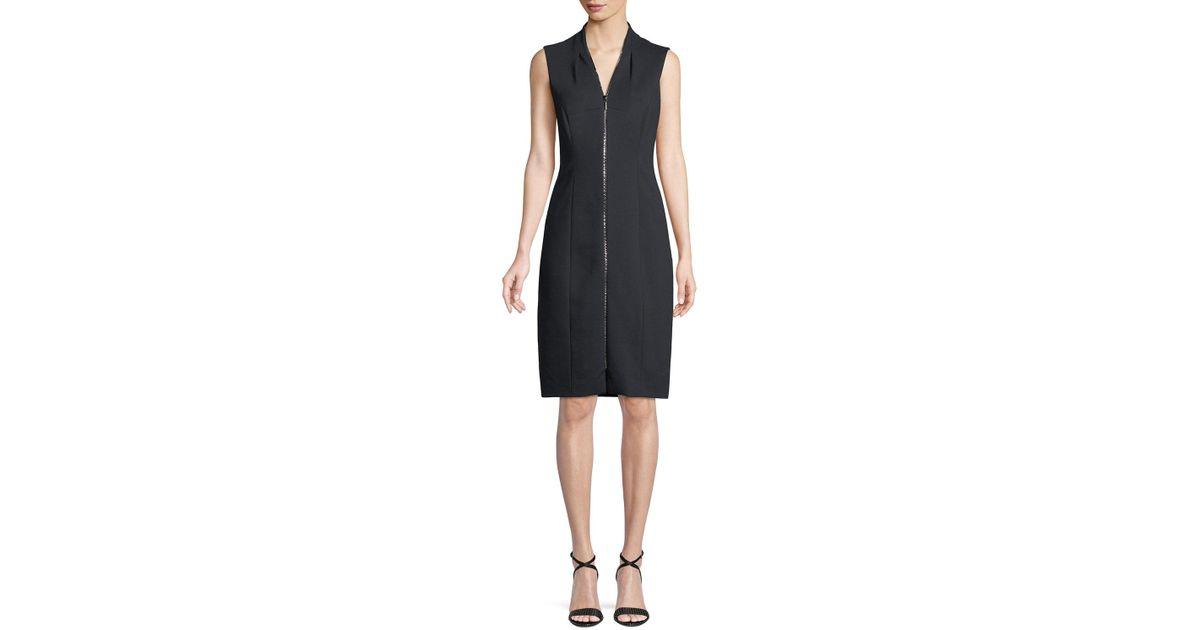 bb9e4391 Elie Tahari Verdie Zip-front Dress in Black - Lyst