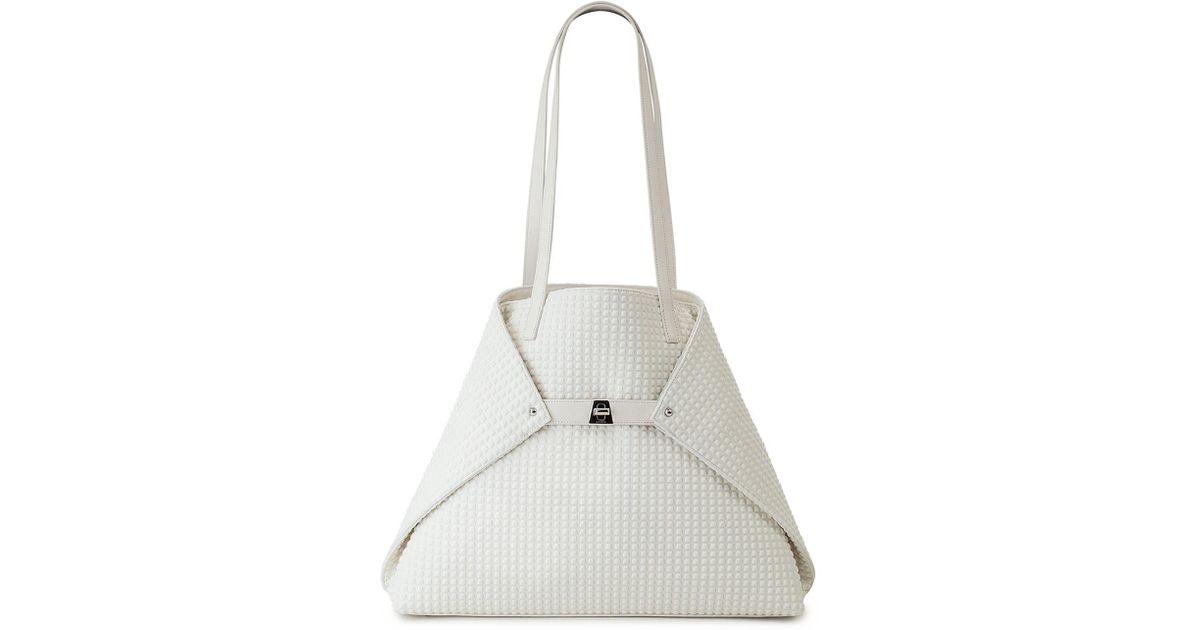 2d1eaffc524 Lyst - Akris Ai Medium Techno Fabric Shoulder Bag in White