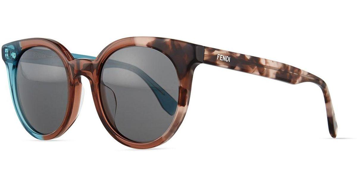 0595d6b65f3 Lyst - Fendi Limited-edition Colorblock Sunglasses in Blue