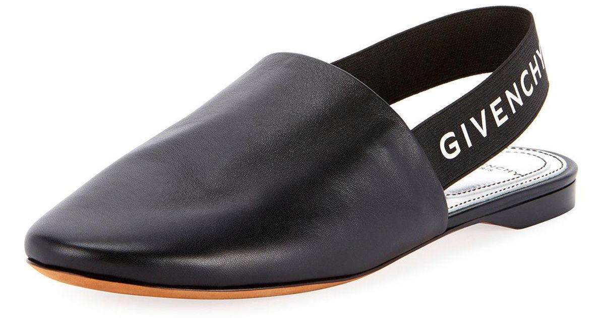 0b5019831c0 Lyst - Givenchy Rivington Logo Slingback Flat in Black