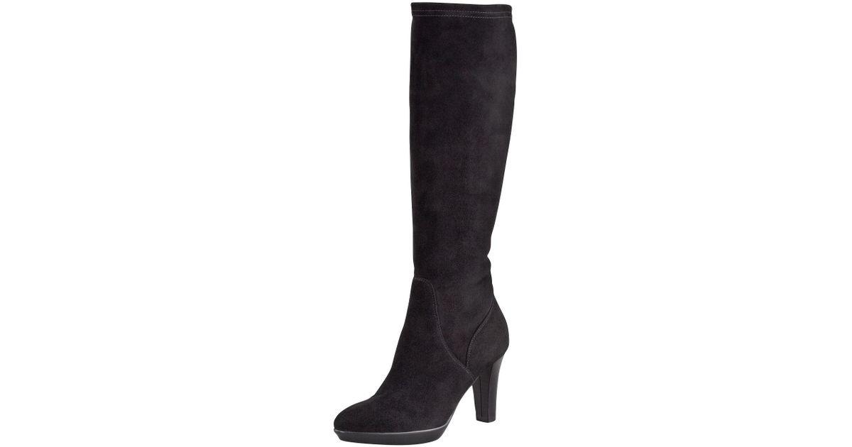 af102c2e406 Lyst - Aquatalia Rhumba Stretch Suede Tall Boot in Black