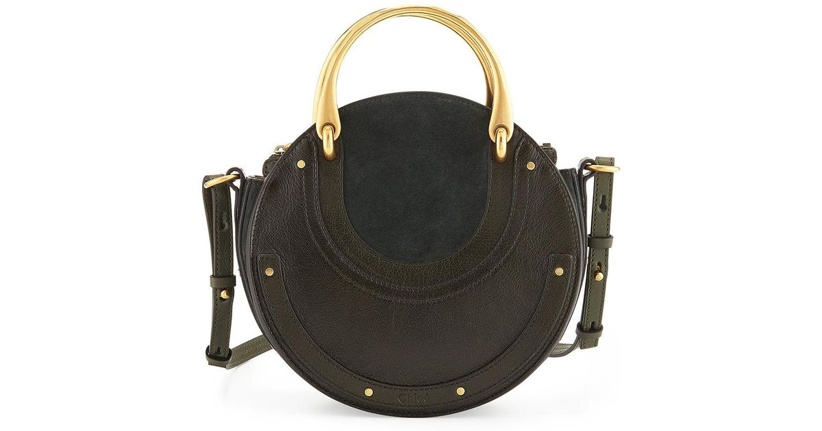 Chloé Pixie Small Round Double-handle Tote Bag in Green - Lyst 8b418e0271