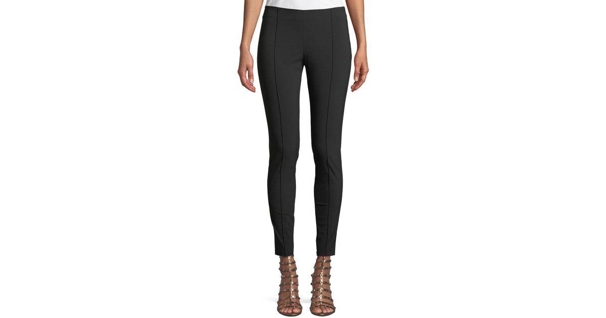 3b49f70b4ad3 Lyst - Valentino Wool-stretch Side-zip Skinny Pants in Black