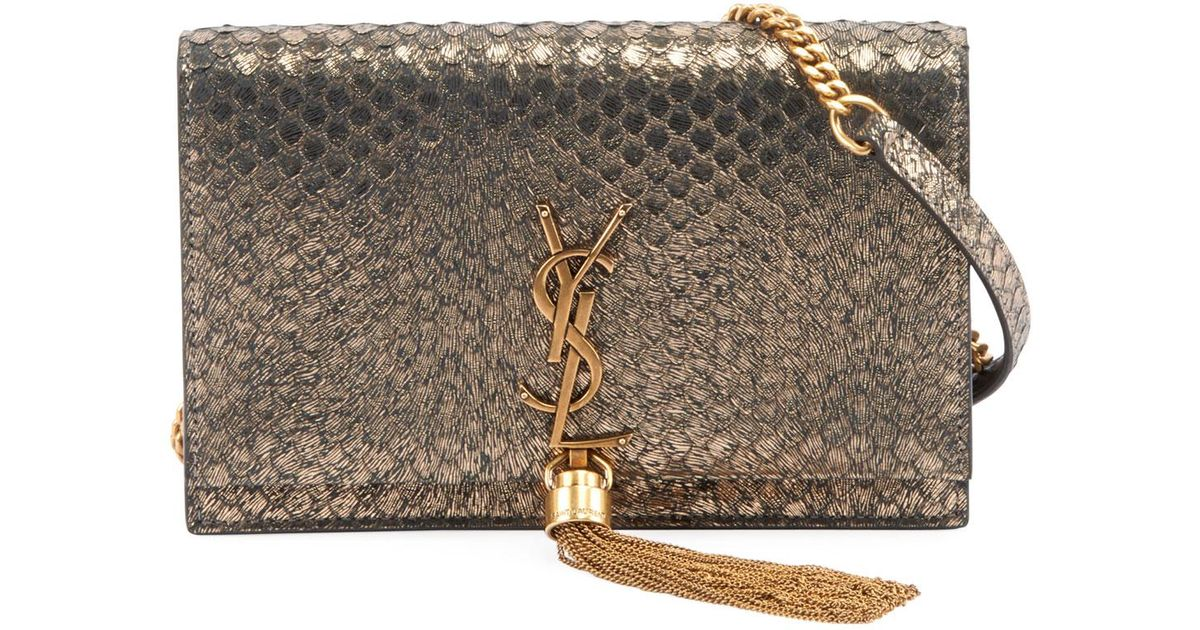 de592831c02 Lyst Saint Lau Kate Monogram Ysl Small Python Effect Tel. Saintlau Saint  Lau Ysl Chain Wallet Shoulder Bag Clutch Calf Navy X Gold Metal Ings