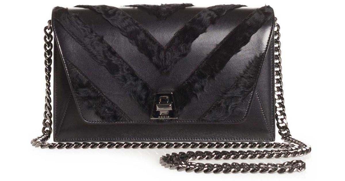 901b659970 Akris Anouk Small City Chevron Shoulder Bag in Black - Lyst