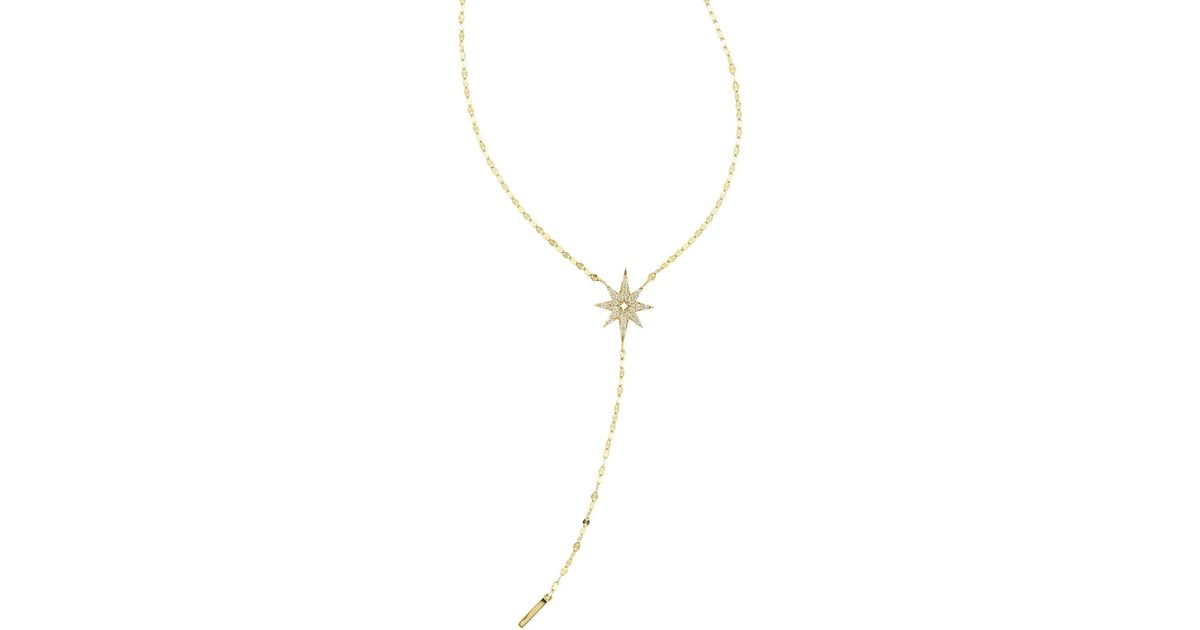Lana Jewelry Large Diamond Star Lariat Necklace ypnSP