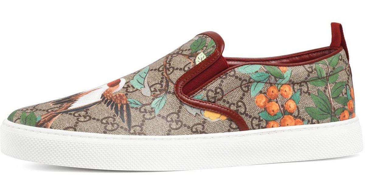 Lyst - Gucci Dublin Tian Gg Supreme Slip-on Sneaker f1cb3c7bf9882