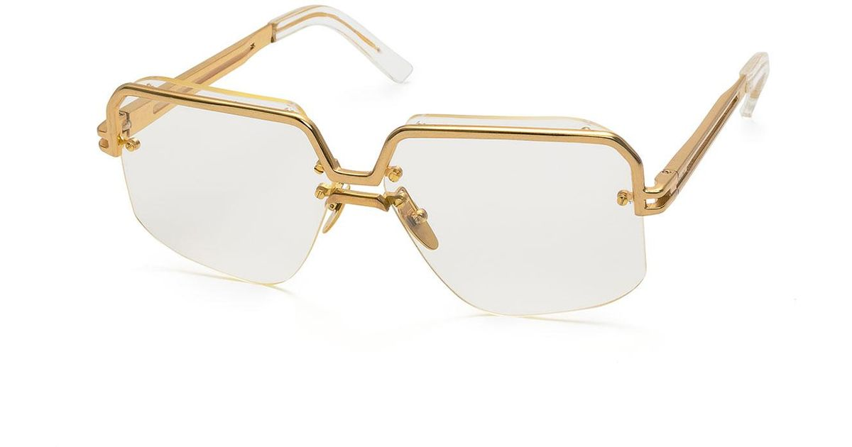 9e8509134c Lyst - Céline Rectangle Semi-rimless Metal Sunglasses in Metallic