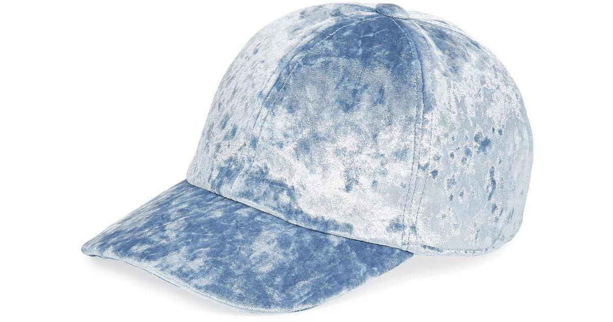 7b4420e551c Lyst - Federica Moretti Velvet Baseball Cap in Blue for Men