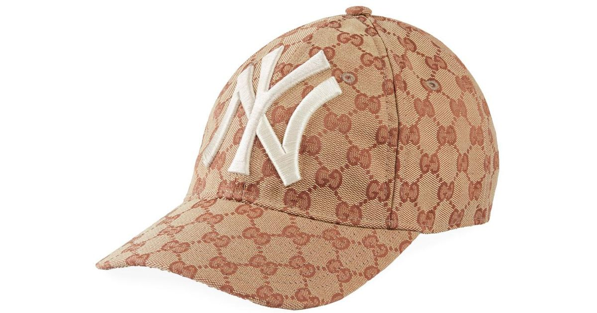 ca39c930ba693 Gucci New York Yankees Logo Baseball Cap for Men - Lyst