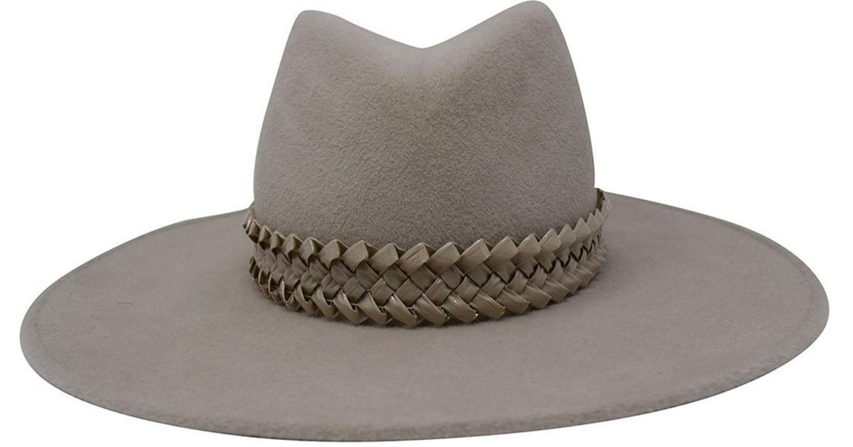8b3c9484 Gigi Burris Millinery Jeanne Felt Panama Hat W/ Racello Braid Band in Gray  - Lyst