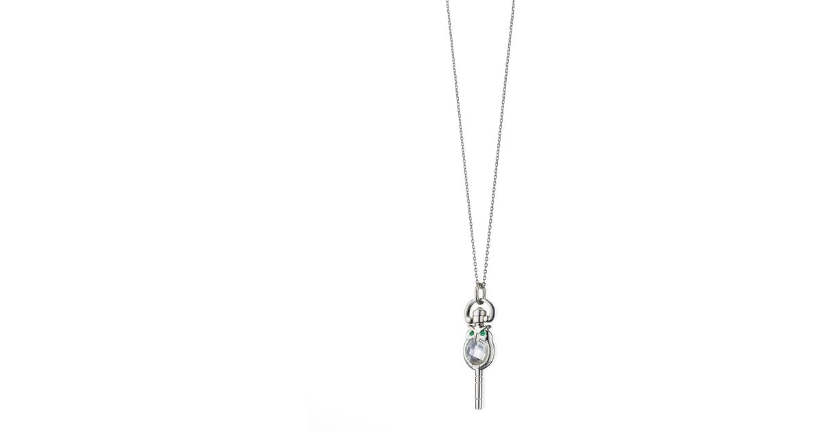Monica Rich Kosann Mini Wisdom Owl Key Necklace thX1u