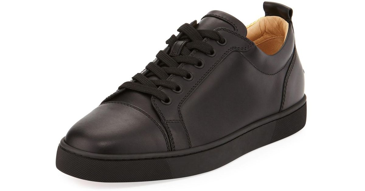 f090adc90f8 ... clearance lyst christian louboutin mens rantulow orlato low top silk  sneakers in black for men save ...