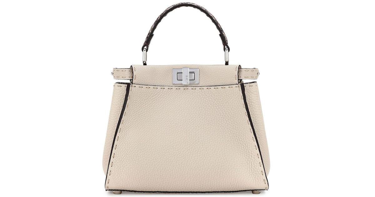 ccfa2e90855e Lyst - Fendi Selleria Peekaboo Mini Leather Satchel Bag