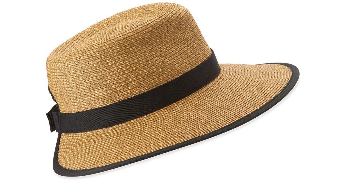 Lyst - Eric Javits Sun Crest Woven Sun Hat in Natural e02fcbe71bc