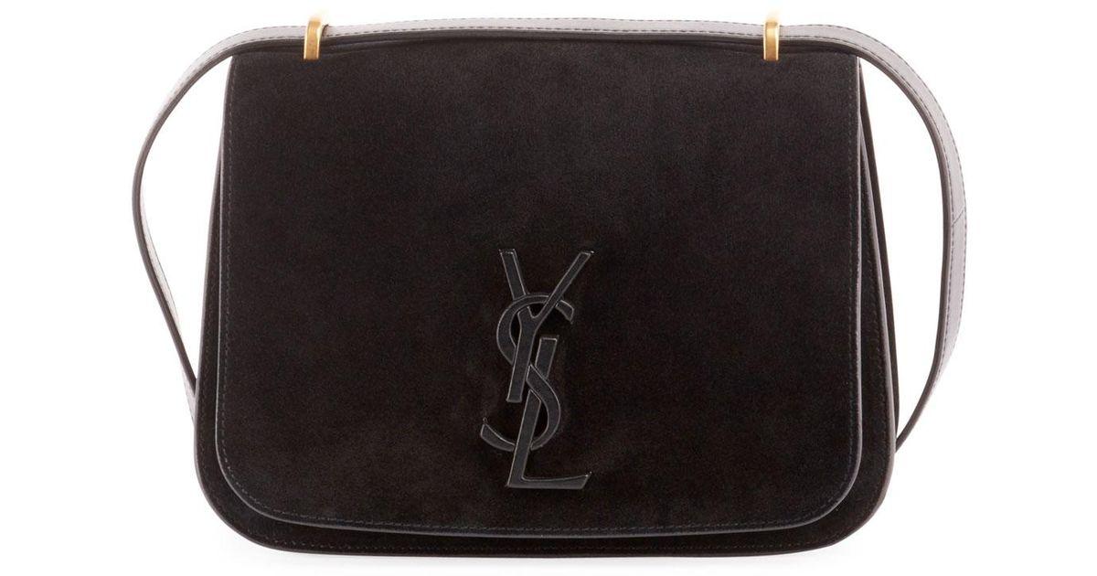 b2deab6c1d5 Saint Laurent Monogram Ysl Spontini Small Satchel Bag in Black - Lyst