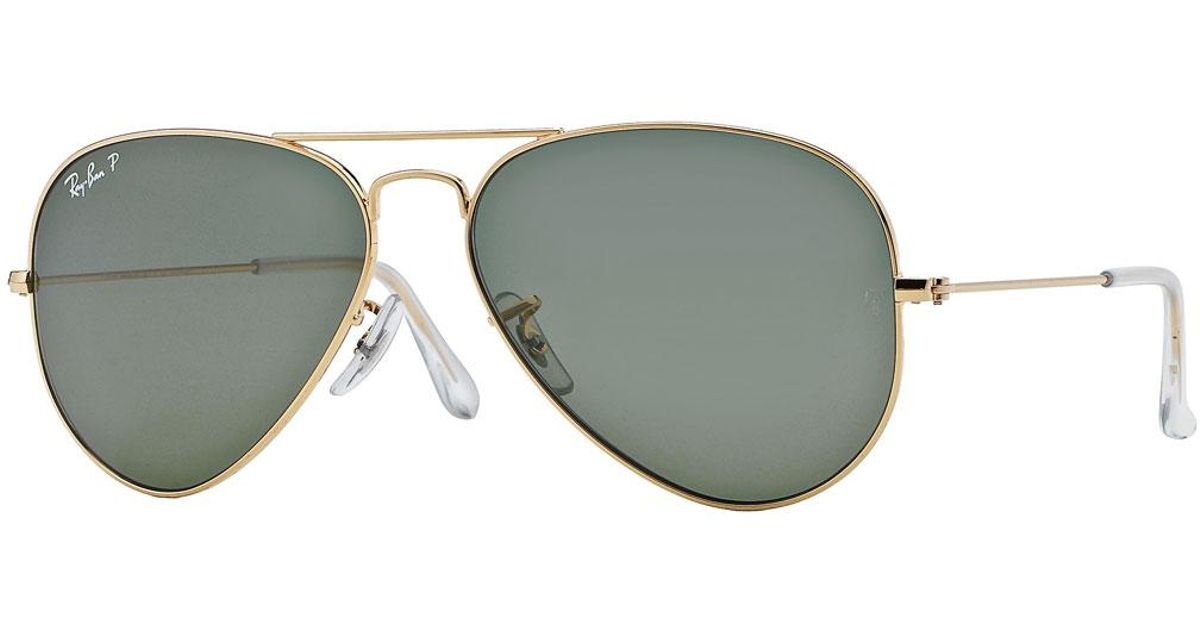 c8f5cabd91 Lyst - Ray-Ban Monochromatic Polarized Metal Aviator Sunglasses