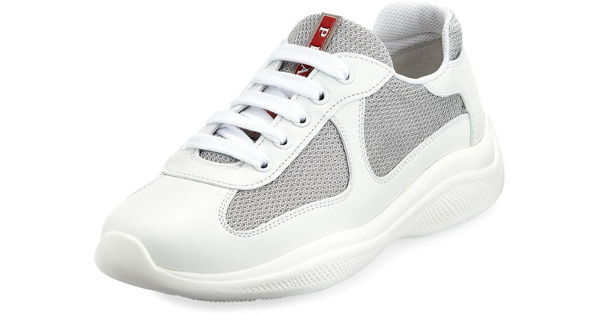 brand new 10128 c9a16 prada-WHITESILVER-Americas-Cup-Metallic-Trainer-Sneakers.jpeg