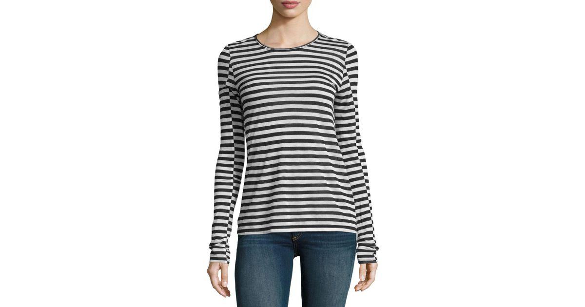 67a5f70899 Rag & Bone Arrow Striped Long-sleeve T-shirt in Black - Lyst