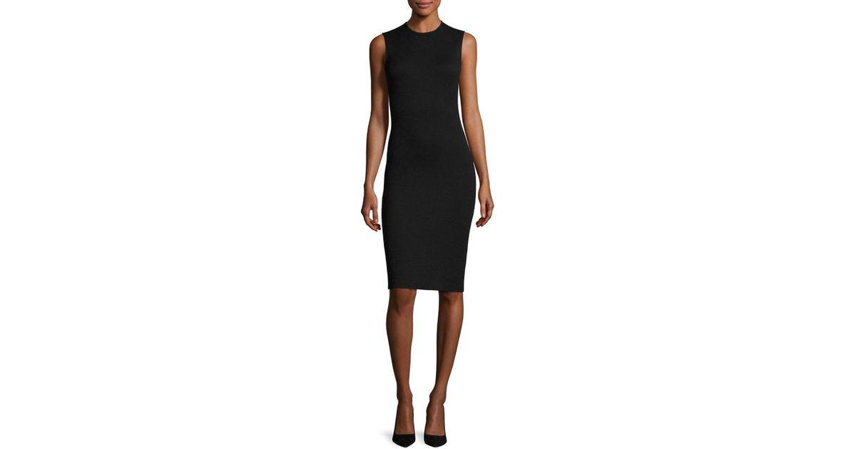 Lyst Theory Eano B Sleeveless Cocktail Sheath Dress In Black