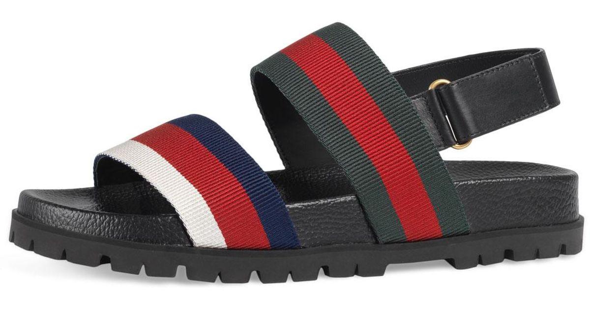 37d399c3d72 Lyst - Gucci Rimini Double-strap Sandal for Men