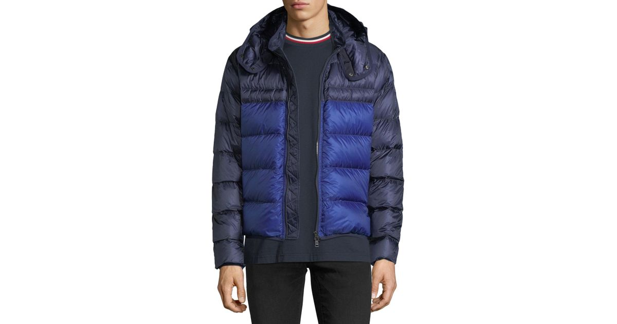 Puffer Men Hooded For Brech Moncler Jacket In Blue Lyst A4R3jL5q