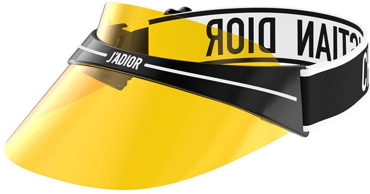 6dd53dac08b2c1 Dior Club1 Transparent Logo Sun Visor in Yellow - Lyst