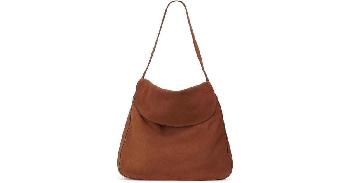 Prada Suede Doubled Flap-Top Medium Hobo Bag VIbhKiov