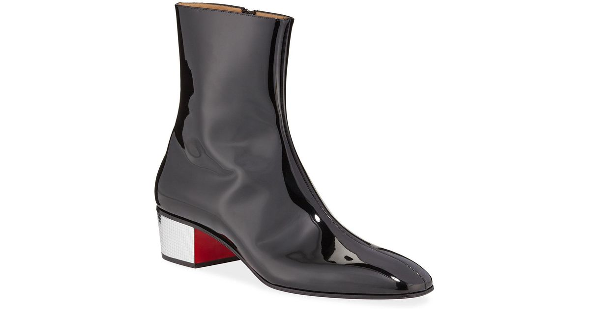 online here delicate colors shoes for cheap Christian Louboutin Men's Palace Disco Patent Red Sole Boots ...