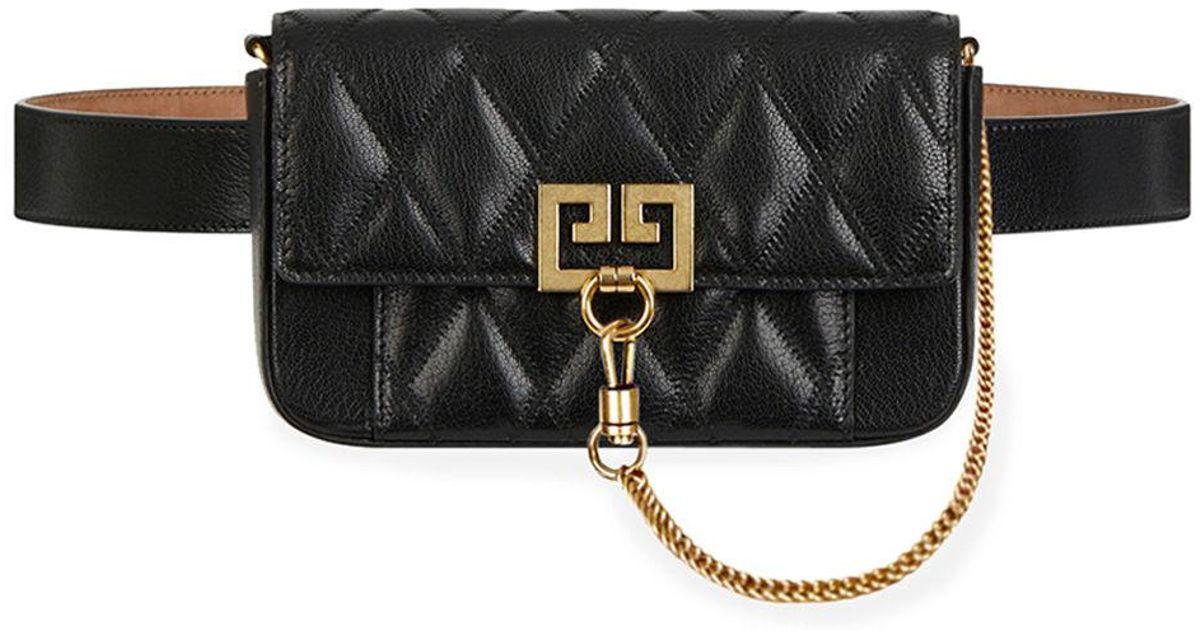 2842fe3c0af Givenchy Pocket Mini Pouch Convertible Clutch/belt Bag - Golden Hardware in  Black - Lyst