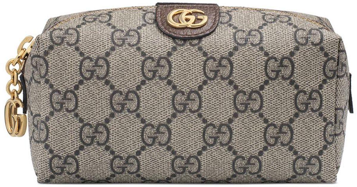 df433b8e3589 Gucci Ophidia Mini GG Supreme Cosmetics Clutch Bag in Natural - Lyst
