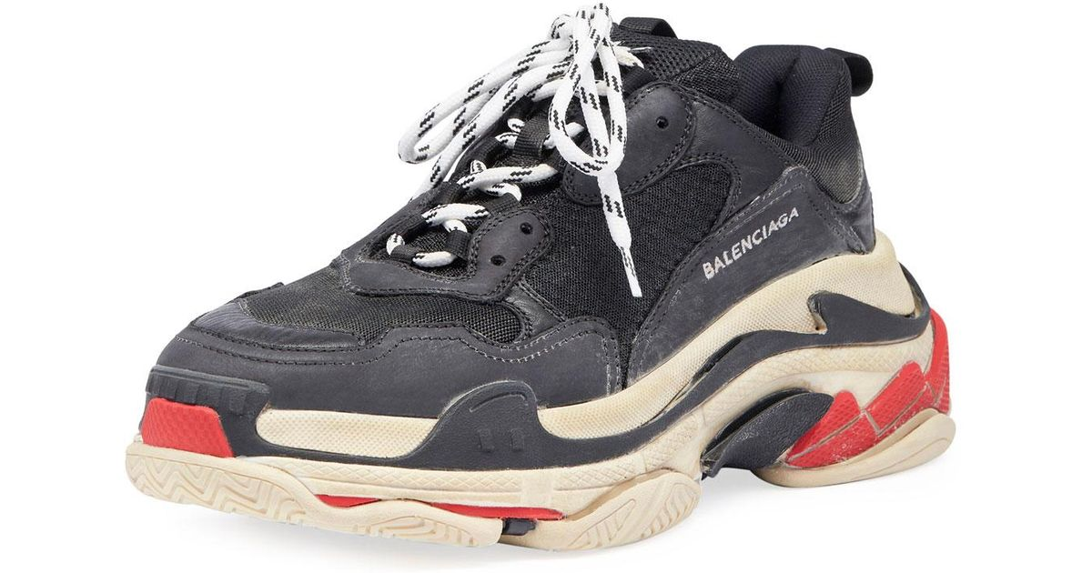 110d3be6cccb Lyst - Balenciaga Triple S Trainers in Black - Save 23%