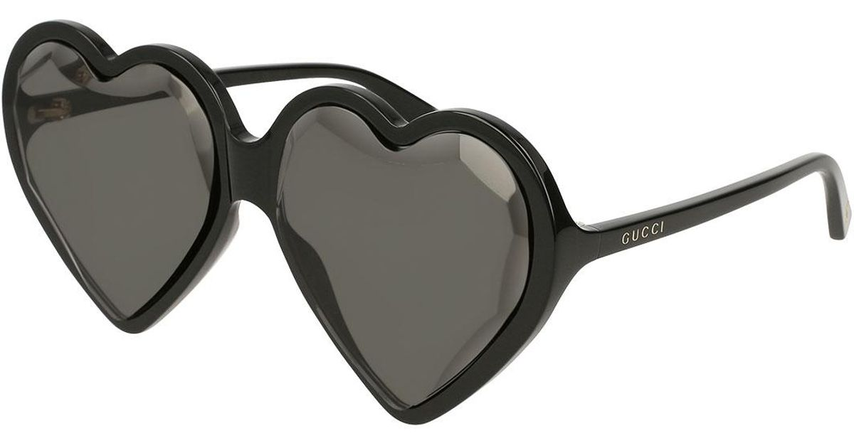 ebbd294608680 Lyst - Gucci Forever Hollywood Heart-shaped Acetate Sunglasses in Black