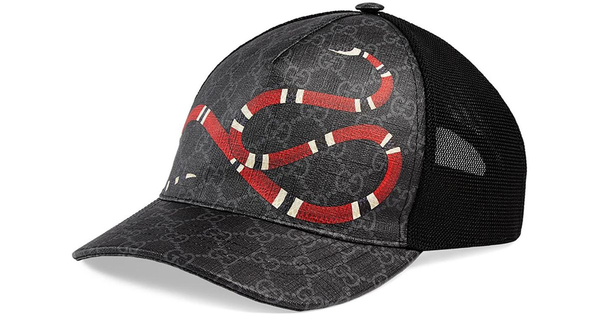 2abd0a02 Gucci Snake Baseball Cap in Black for Men - Save 32% - Lyst