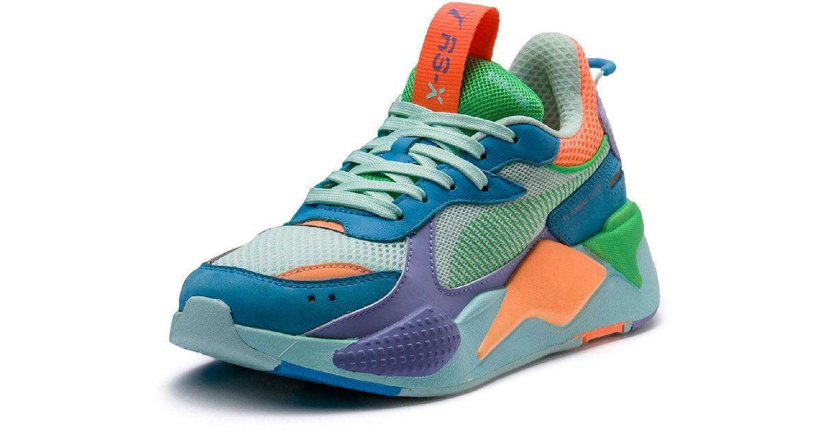 41f00f00336 Lyst - PUMA Rs-x Colorblock Sneakers in Blue