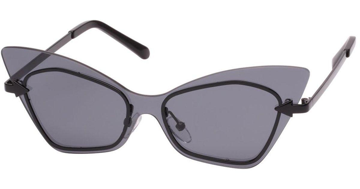 a7bea4acedd9 Lyst - Karen Walker Mrs. Brill Cat-eye Semi-rimless Sunglasses