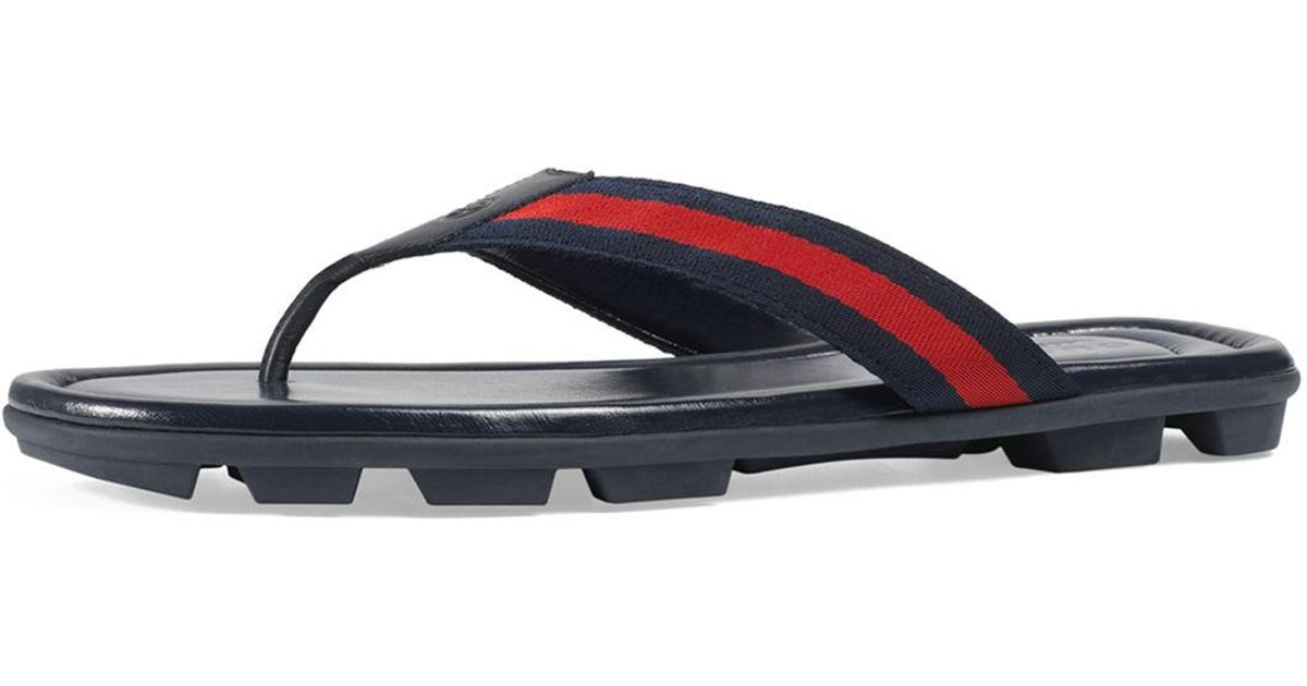 99eea2ba25a Lyst - Gucci Titan Beach Thong Sandal in Blue for Men