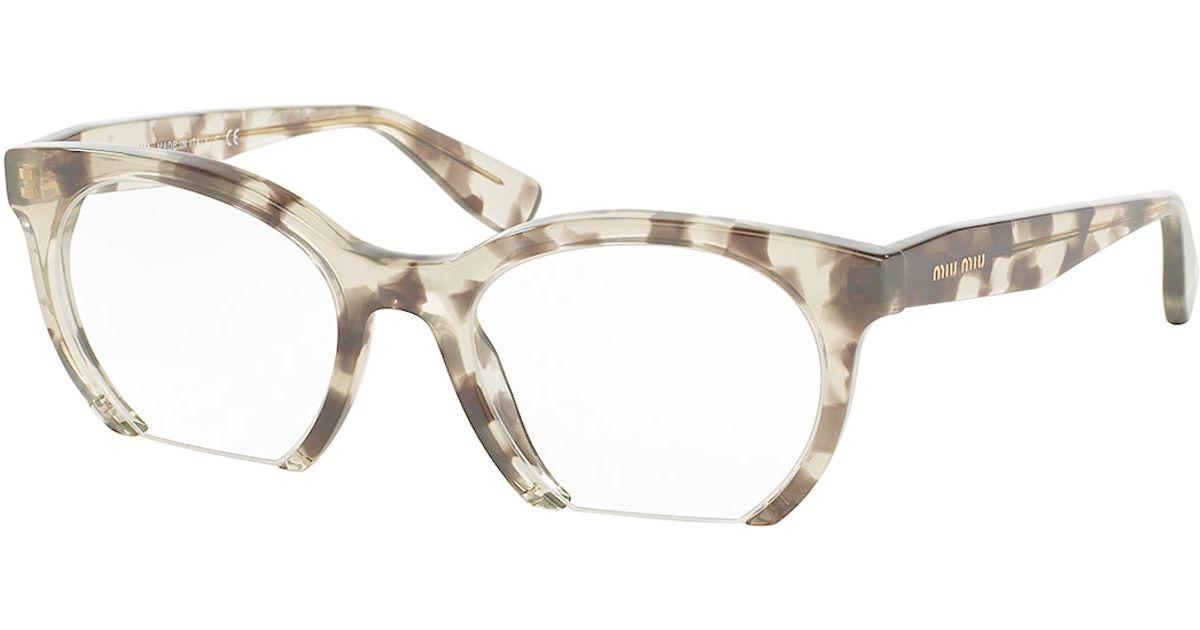 df0a307d345e Lyst - Miu Miu Cutoff Cat-eye Optical Frames in Black