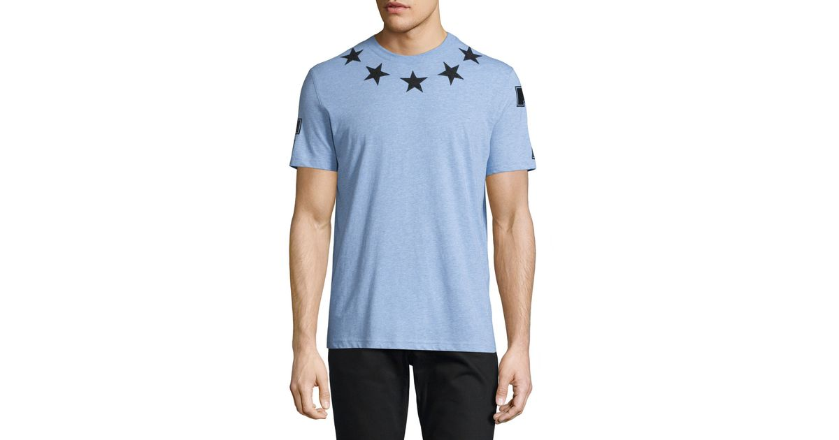 givenchy star print heathered t shirt in blue for men lyst. Black Bedroom Furniture Sets. Home Design Ideas