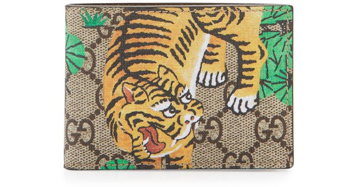202d1fe3434278 Gucci Bengal Gg Supreme Wallet in Natural for Men - Lyst